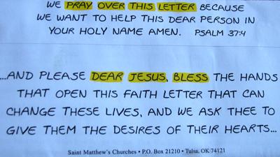 Jesus Letter Back