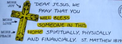 Jesus Letter Front