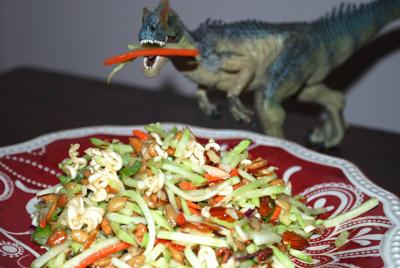 Ramen Salad Dinosaur